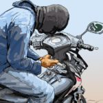 Two Thieves Caught Stealing Motorcycle from La Planca