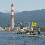 Greenpeace protests coal fired power plant